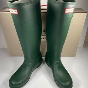 Hunter Original Tall Rain Boot Matte Green